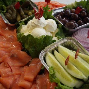 Lox, Bagel and Cream Cheese Tray